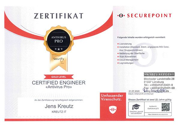 Certified Enginerr Antivirus Pro (07/2020)