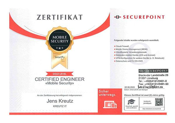Certified Engineer Mobile Security (06/2020)