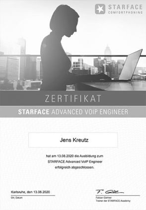 STARFACE Advanced VoIP Engineer (08/2020)