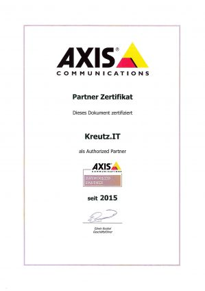 AXIS Authorized Partner (01/2015)