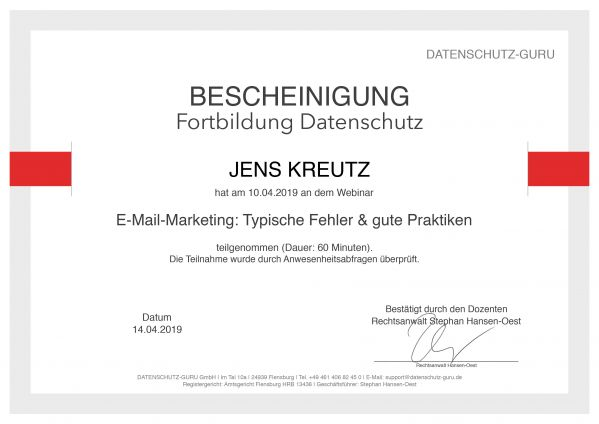 E-Mail-Marketing (04/2019)
