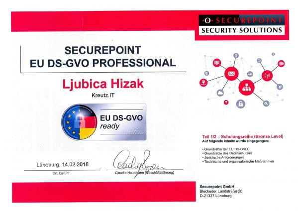 SECUREPOINT EU DS-GVO PROFESSIONAL (02/2018)