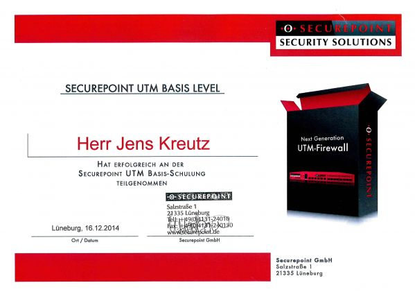 SECUREPOINT UTM BASIS LEVEL (12/2014)