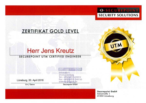 SECUREPOINT UTM GOLD LEVEL (04/2016)