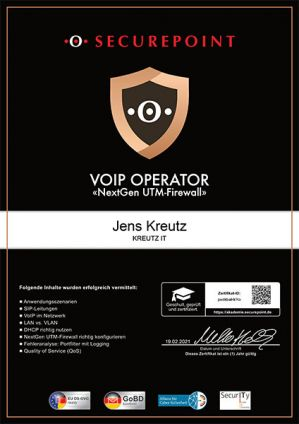 VOIP OPERATOR (02/2021)