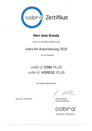 cobra Re-Autorisierung 2018 (10/2017)