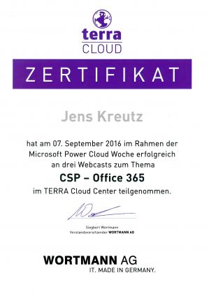 TERRA CLOUD CSP - Office 365 (09/2016)